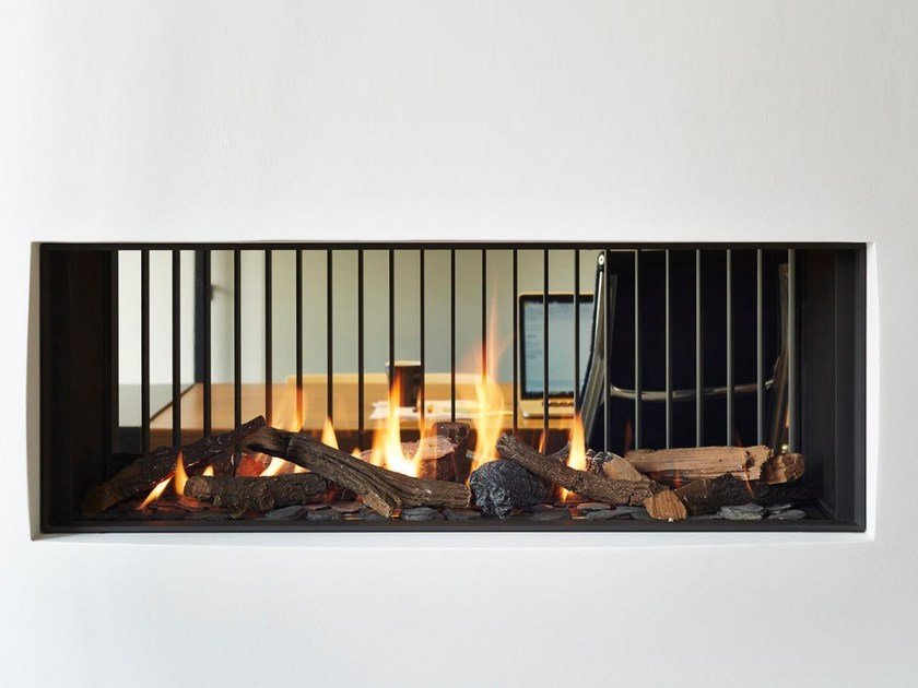 Double-sided gas built-in fireplace STÛV B-100 | Double-sided fireplace - Stûv