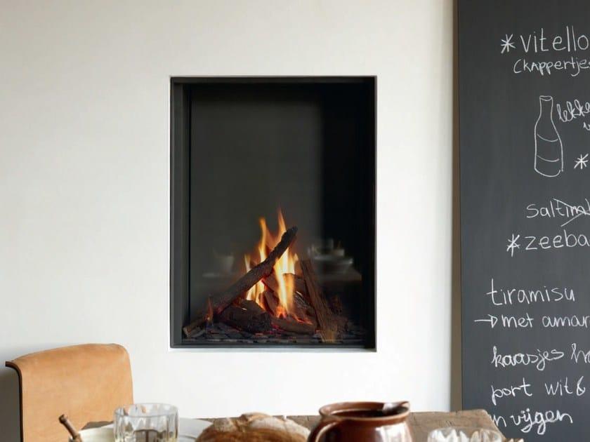 Gas wall-mounted steel fireplace STÛV B-60 - Stûv