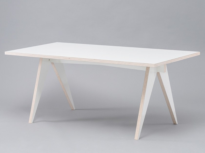 Lacquered rectangular dining table ST CALIPERS WHITE - ST FURNITURE