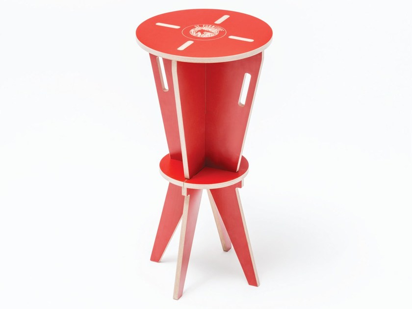 High lacquered plywood children's footstool ST HOCKER - ST FURNITURE