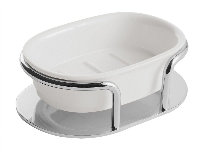 Countertop ceramic soap dish ST. JAMES | Countertop soap dish - GENTRY HOME