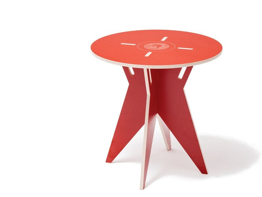 Lacquered round plywood coffee table for children ST STOLIK - ST FURNITURE