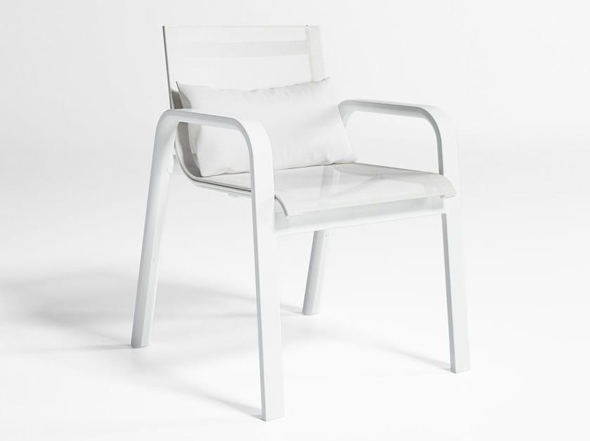 Batyline® garden armchair with armrests STACK | Garden armchair - GANDIA BLASCO