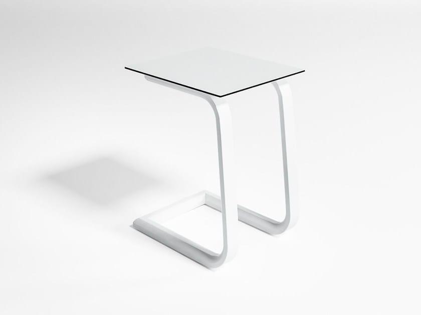 Contemporary style rectangular aluminium garden side table STACK | Side table - GANDIA BLASCO