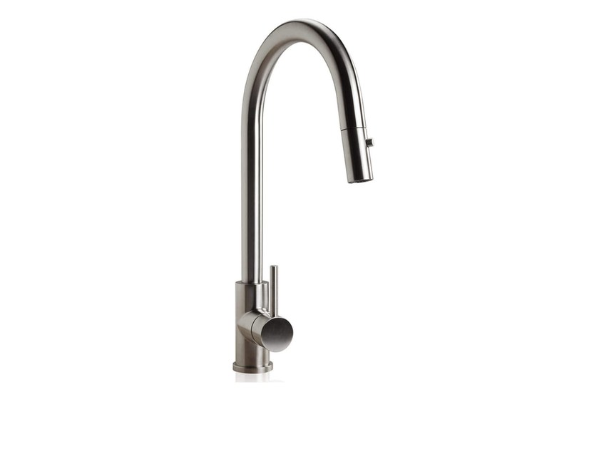 Countertop 1 hole kitchen mixer tap with pull out spray STAINLESS | Kitchen mixer tap with pull out spray by rvb