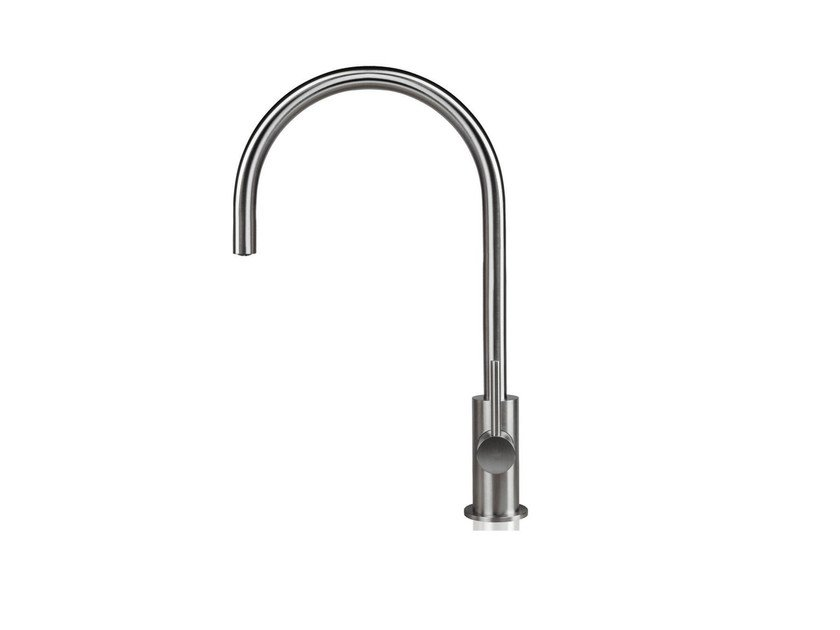 Countertop 1 hole kitchen mixer tap STAINLESS | Countertop kitchen mixer tap - rvb