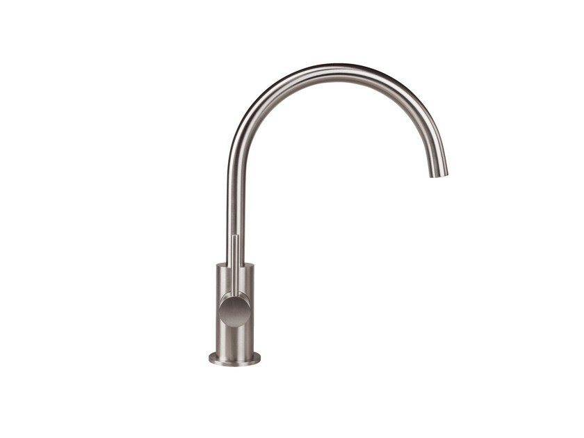 1 hole kitchen mixer tap STAINLESS | Kitchen mixer tap - rvb
