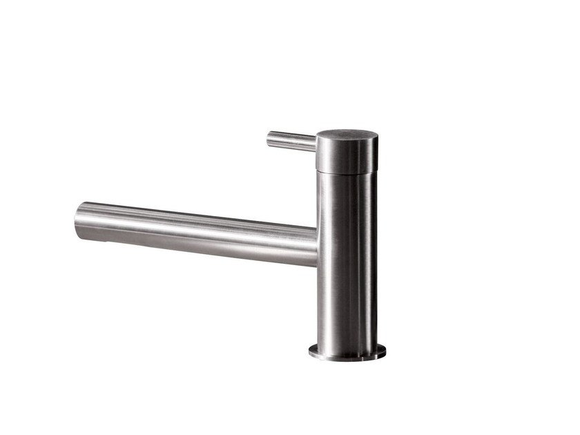 Countertop single handle 1 hole washbasin mixer STAINLESS | Washbasin mixer - rvb
