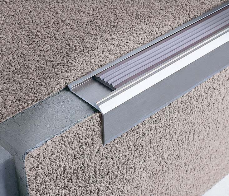 Stairnosing profiles for carpet and rubber STAIRTEC SM 28 - PROFILITEC