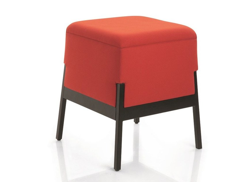 Upholstered square fabric pouf STAND BY | Fabric pouf by Emmegi