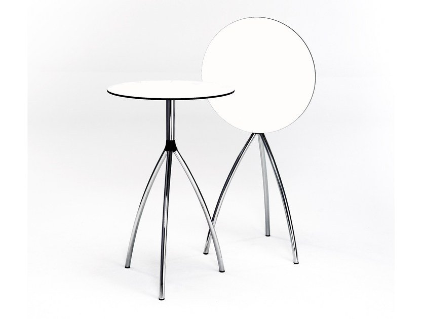Drop-leaf round high table STAND UP by rosconi