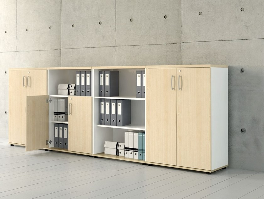 Low office storage unit with lock STANDARD | Low office storage unit by MDD