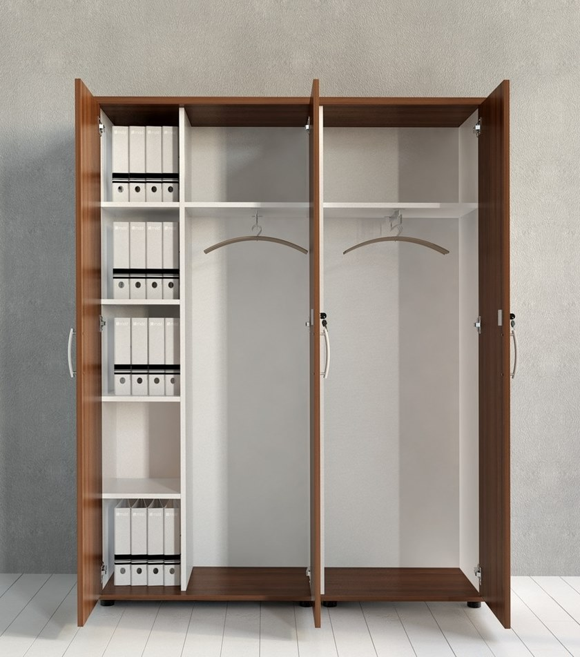 Tall office storage unit with hinged doors STANDARD | Tall office storage unit - MDD