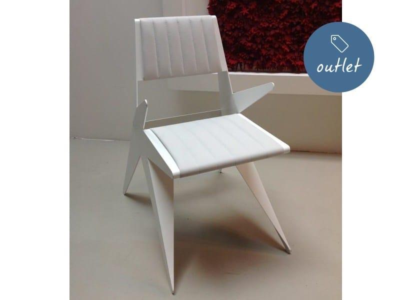 Sedia in pelle con braccioli STAR | Sedia con braccioli - Lamberti Decor