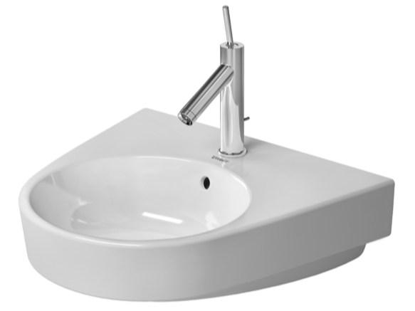 Wall-mounted ceramic washbasin STARCK 2 | Wall-mounted washbasin - DURAVIT