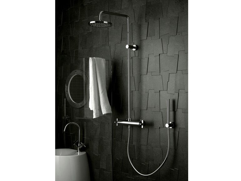 Shower tap with hand shower with overhead shower STARFLÒ | Shower tap with overhead shower - Signorini Rubinetterie