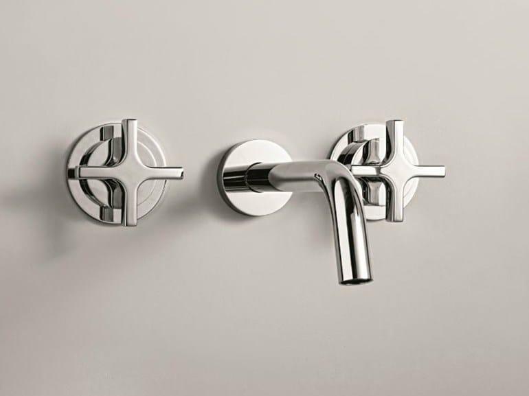 3 hole wall-mounted washbasin tap STARFLÒ | Wall-mounted washbasin tap - Signorini Rubinetterie