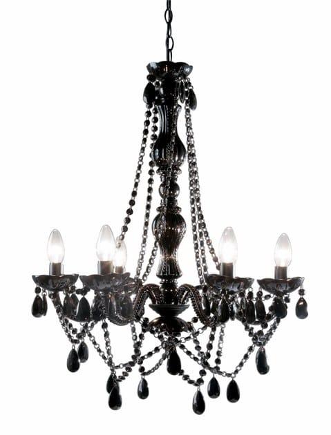 Classic style acrylic glass chandelier STARLIGHT BLACK - KARE-DESIGN