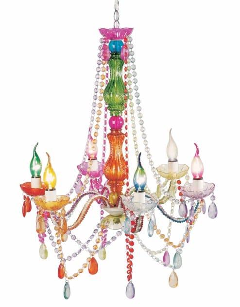 Classic style acrylic glass chandelier STARLIGHT RAINBOW - KARE-DESIGN