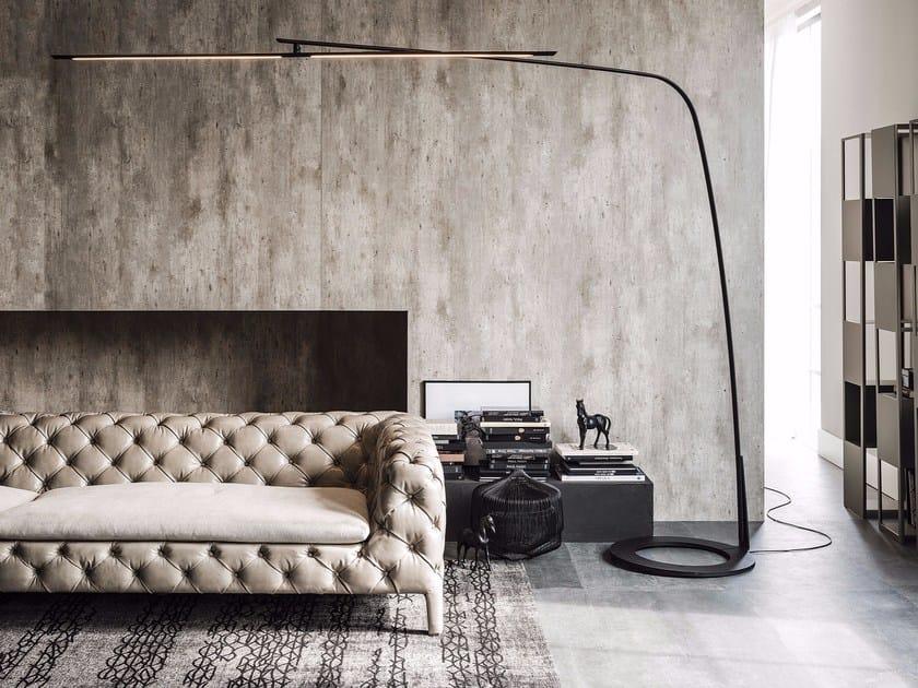 LED adjustable steel floor lamp STEALTH by Cattelan Italia