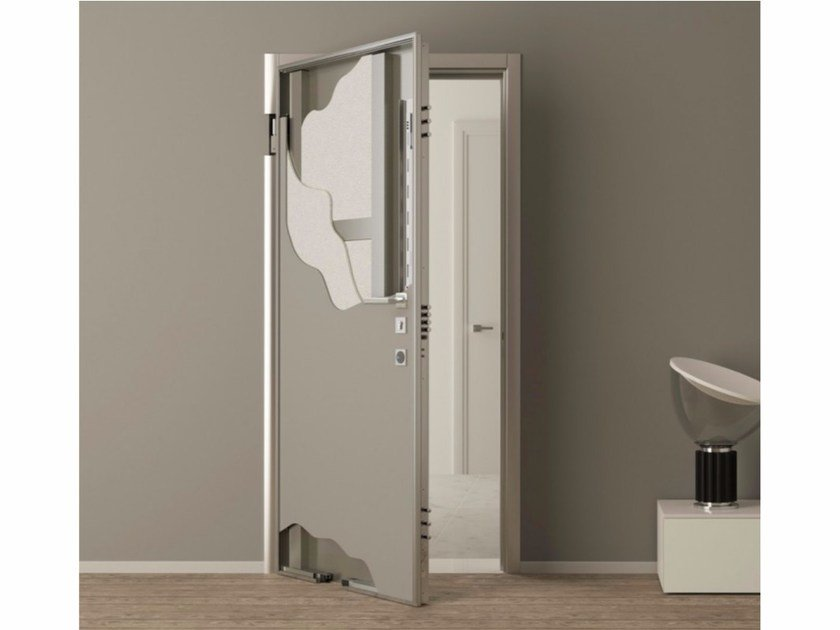 Flush-fitting safety door STEALTH | Safety door - Metalnova