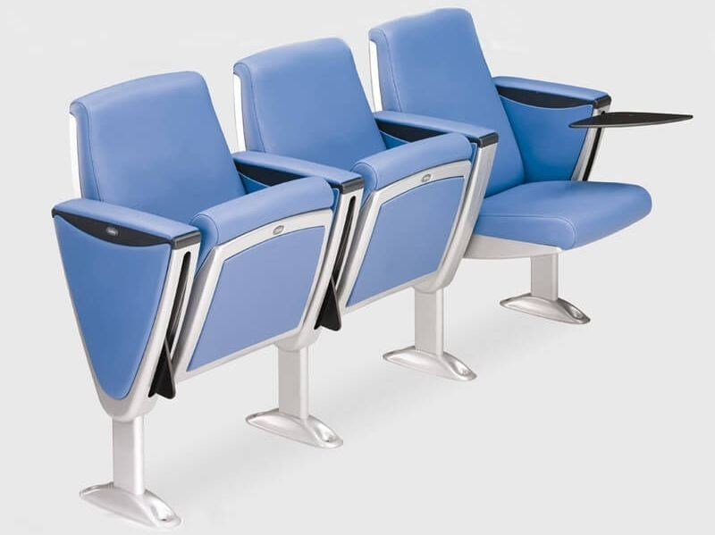 Auditorium seats with writing tablet STEEL by ESTEL GROUP