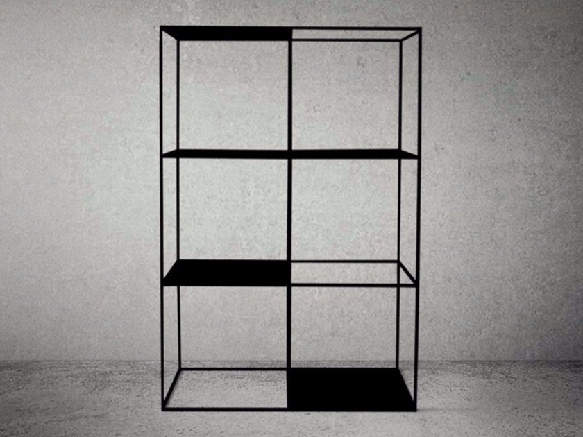 Open steel bookcase STEEL FRAME | Bookcase by Baltic Promo