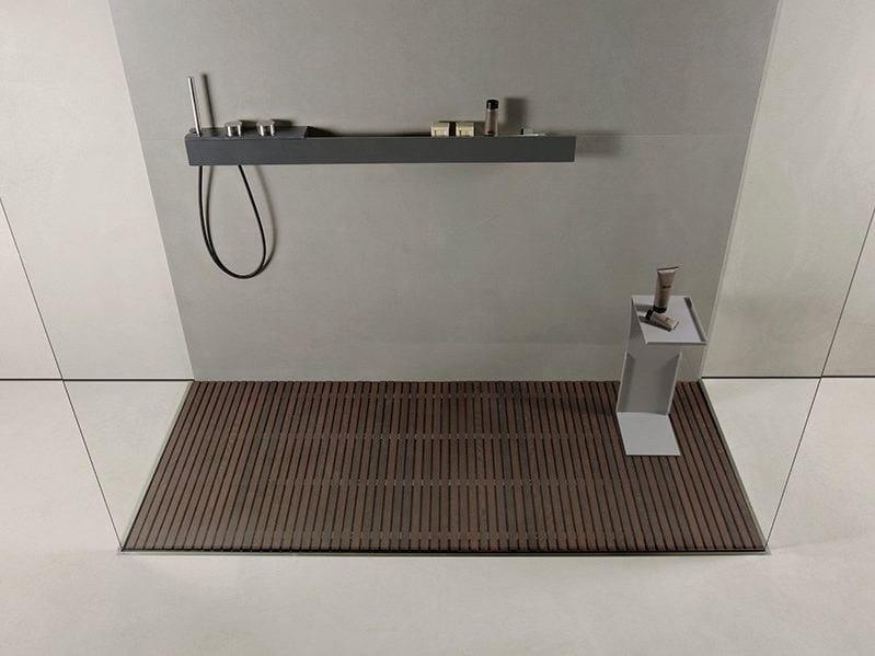 Stainless steel shower tray STEEL by MAKRO