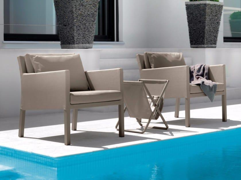 Textilene garden armchair with armrests STEP | Armchair - Talenti