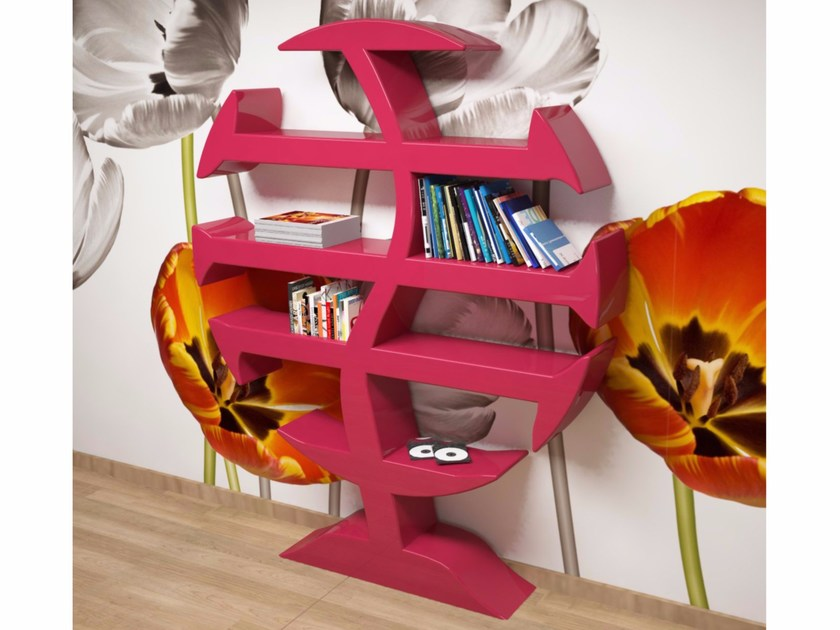 Wall-mounted Adamantx® bookcase STEVENSON by ZAD ITALY