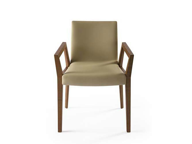 Upholstered chair with armrests STICK | Chair with armrests - Potocco