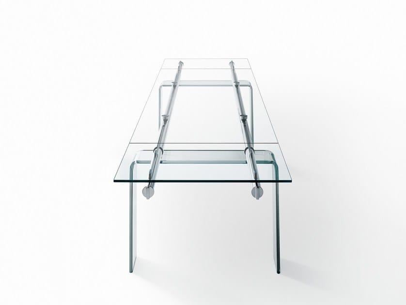 Extending crystal table STILT GLASS - Desalto