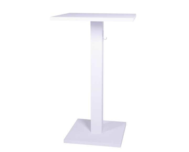 Square powder coated aluminium high table STOCKHOLM   High table - Sérénité Luxury Monaco