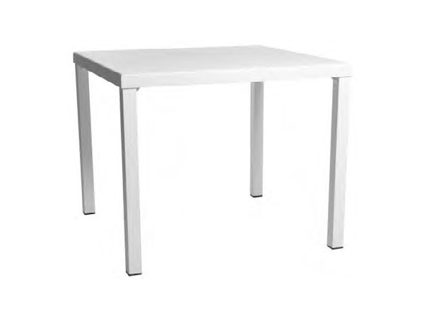 Square powder coated aluminium garden table STOCKHOLM | Square table - Sérénité Luxury Monaco
