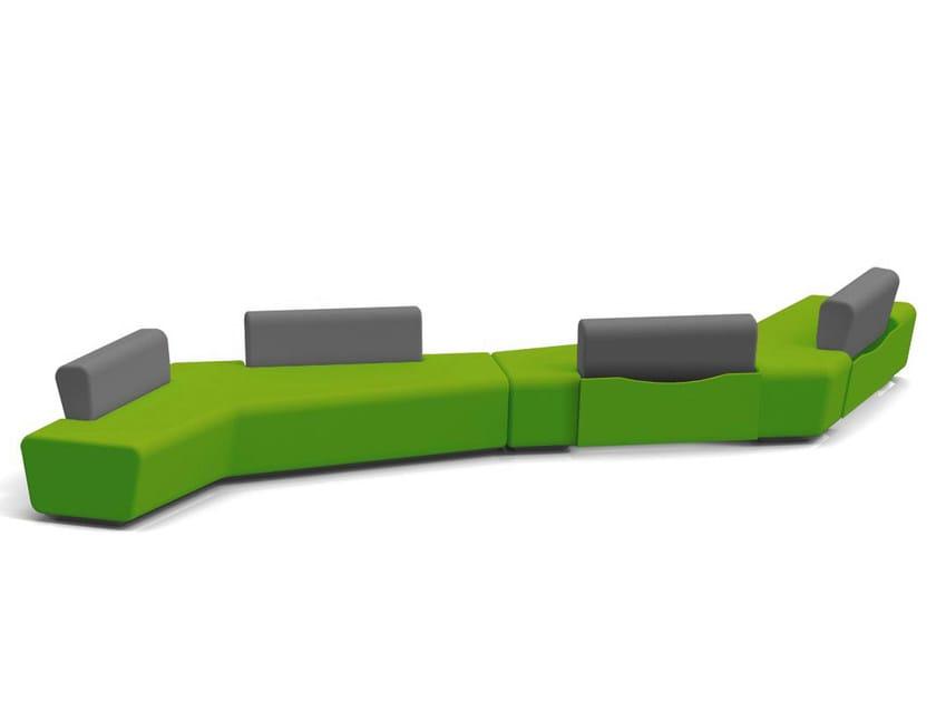 Sectional modular fabric leisure sofa STONE | Sofa - Quinti Sedute