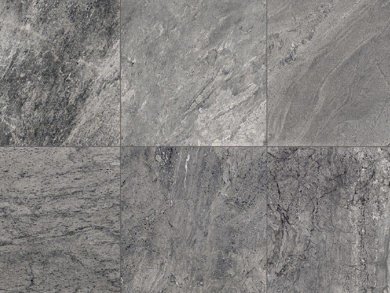 Full-body porcelain stoneware outdoor floor tiles with stone effect STONE MIX Quarzite Grey by Italgraniti