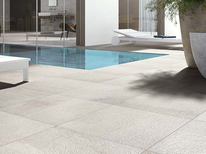 Pavimento in gres porcellanato effetto pietra per interni ed esterni stonequartz cotto d 39 este - Suelos de piedra para exterior ...