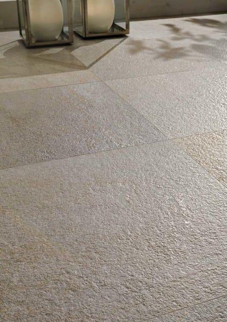 Pavimento in gres porcellanato effetto pietra per interni ed esterni stone quartz cotto d 39 este - Gres porcellanato effetto pietra per esterni ...