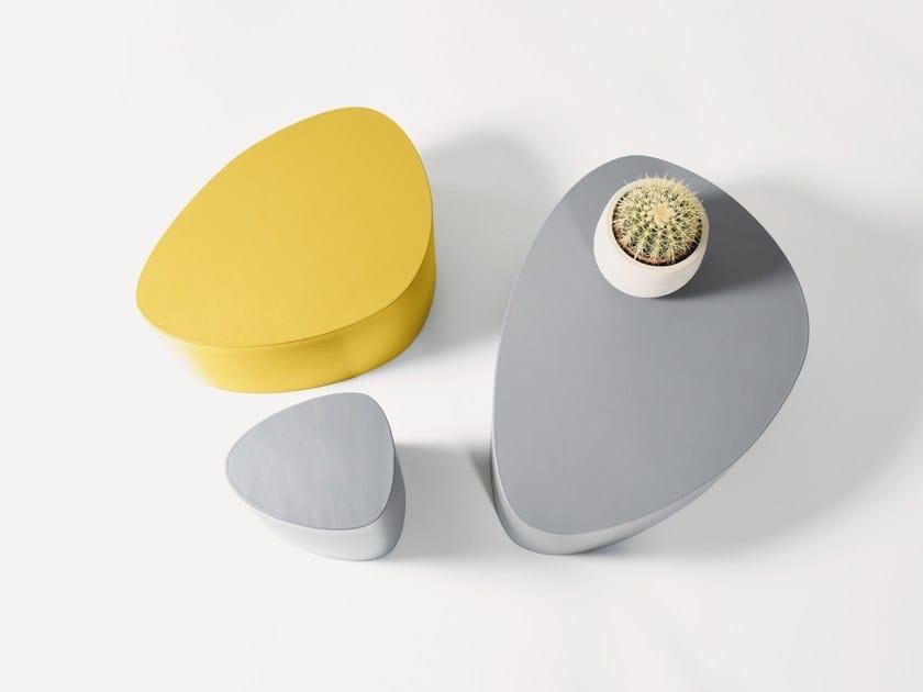 Pouf / tavolino in schiuma rivestita STONE - Stratta