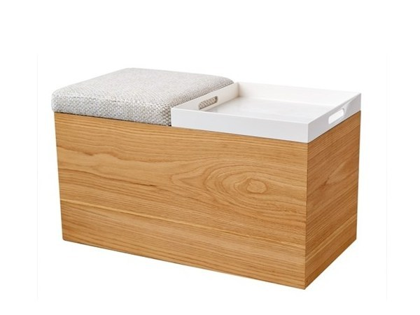 Storage wooden bench STORAGE-BENCH - Pols Potten