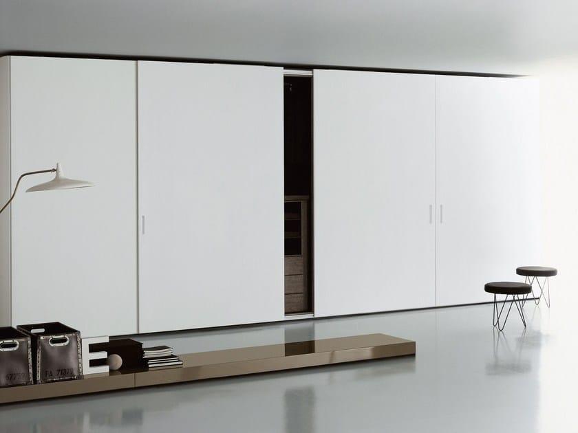 Wooden wardrobe with coplanar doors STORAGE   Wardrobe with coplanar doors - Porro