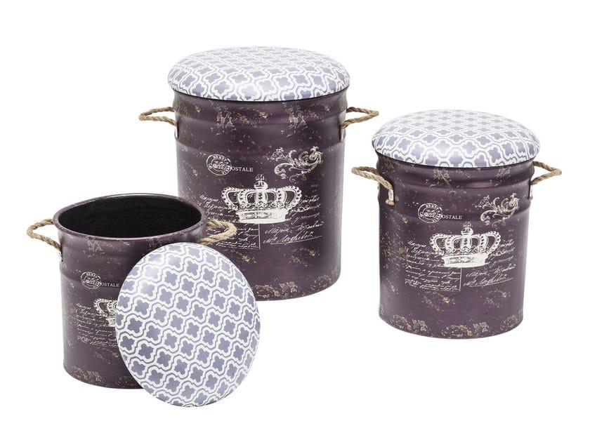 Pouf contenitore in acciaio STORAGE ROYAL - KARE-DESIGN