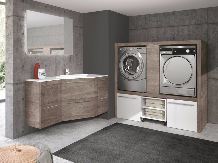 Sectional laundry room cabinet STORE EXCELLENT - GRUPPO GEROMIN