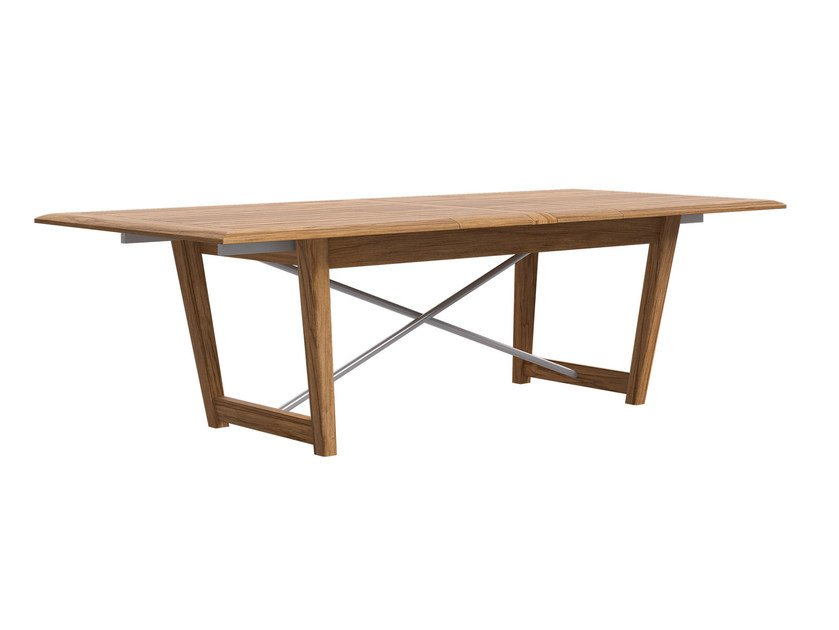 Extending rectangular teak garden table STORM | Table - Atmosphera