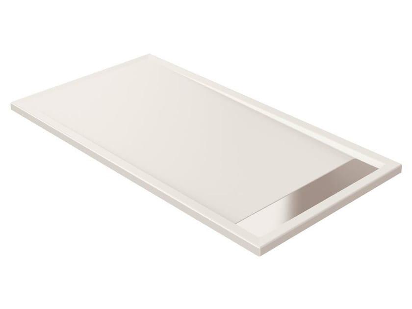 Anti-slip rectangular extra flat acrylic shower tray STRADA - K2628 - Ideal Standard Italia