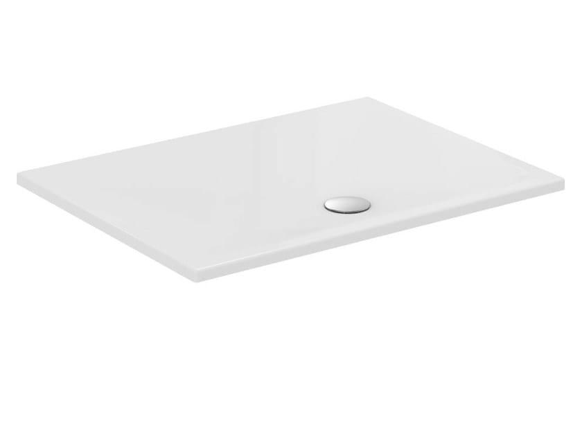 Anti-slip rectangular ceramic shower tray STRADA - T2577 - Ideal Standard Italia