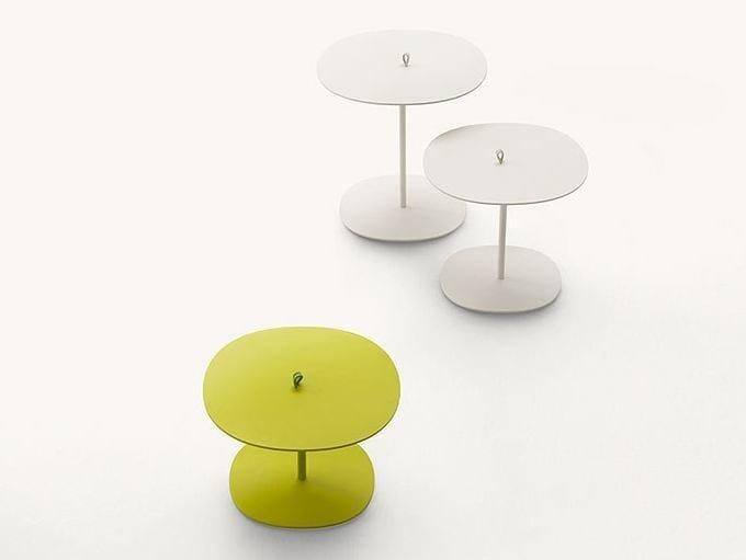 Round aluminium garden side table STRAP by Paola Lenti