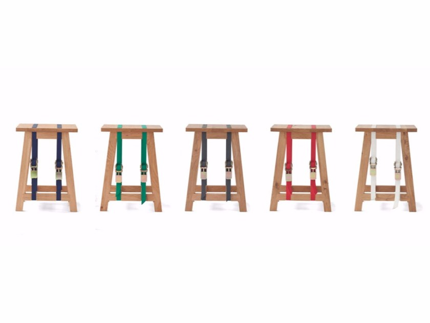 English oak stool STRAP | Stool by Vij5