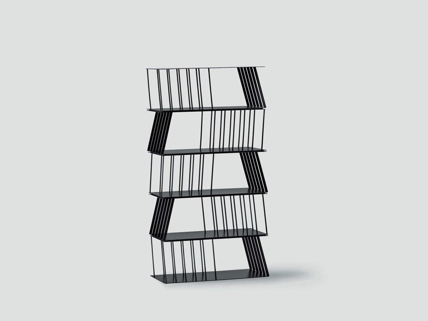 Open double-sided metal shelving unit STRIP - da a