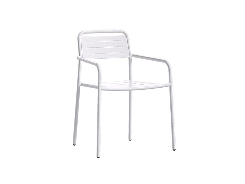 Stackable garden chair with armrests STRIPE - Atmosphera